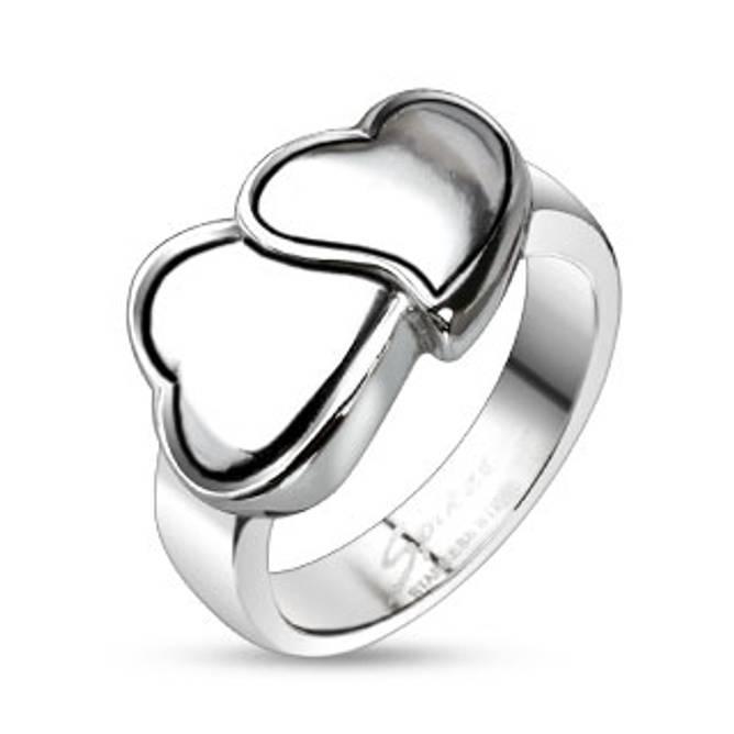 Bilde av Ring i stål, Hugging Hearts