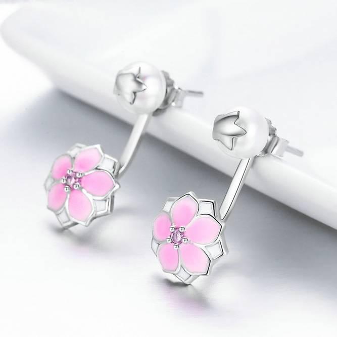 Bilde av Sølvøredobber med rosa