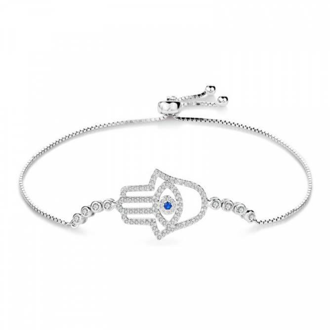Bilde av Hamsahånd Armbånd i sølv