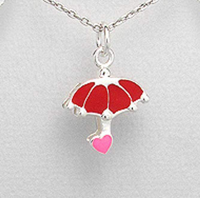 Bilde av Sølvanheng barn,Rød paraply