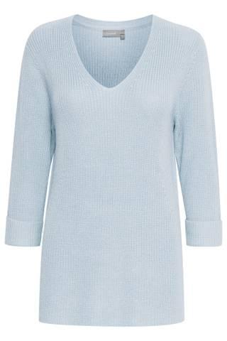 Bilde av Frvestrib 1 Pullover 2 Light Blue