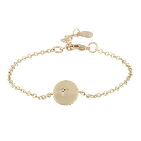 Bilde av Feliz Chain Coin Bracelet Gold