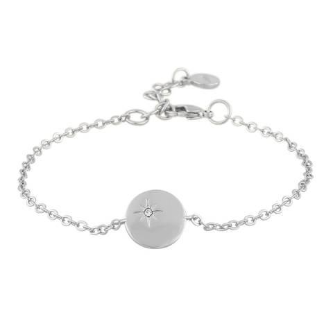 Bilde av Feliz Chain Coin Bracelet Silver
