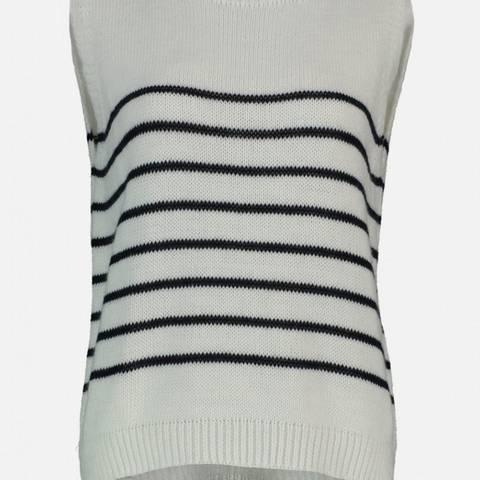 Bilde av Saba Stripe Vest Offwhite