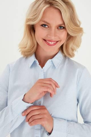 Bilde av Frzaoxford 1 Shirt Stripe Blue