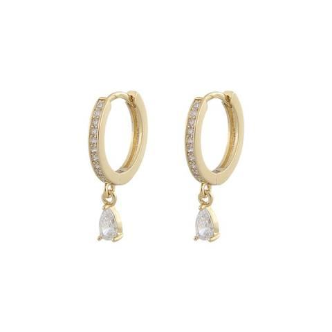 Bilde av Camilla Drop Ring Earring Gold