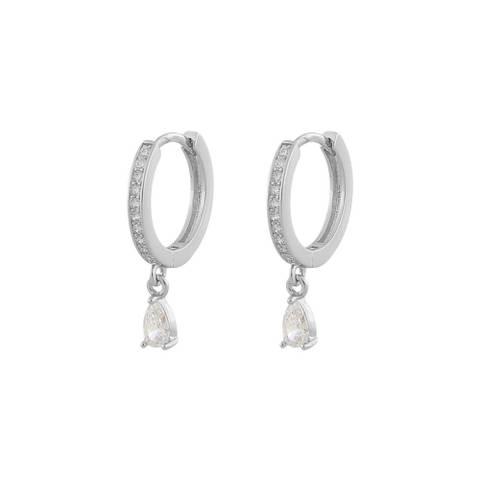 Bilde av Camilla Drop Ring Earring Silver