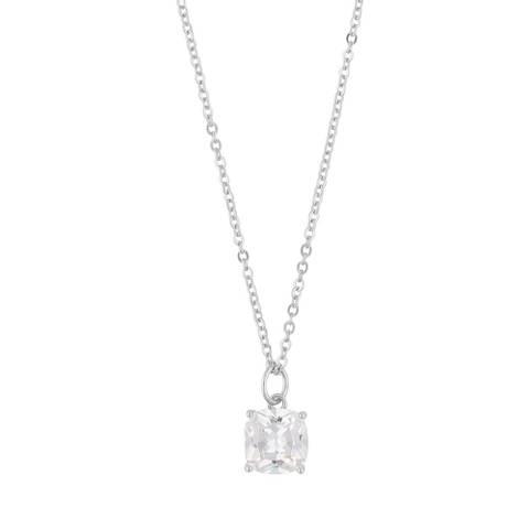 Bilde av Camille 50 Stone Pendant Necklace Silver